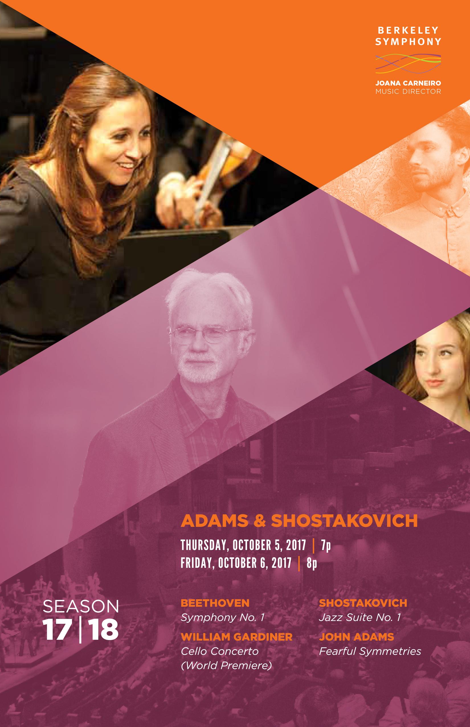 Oct 5&6, 2017 - Adams & Shostakovich